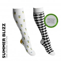 2-pack SUMMER BLIZZ Kompressionsstrumpor 15-18mmHg
