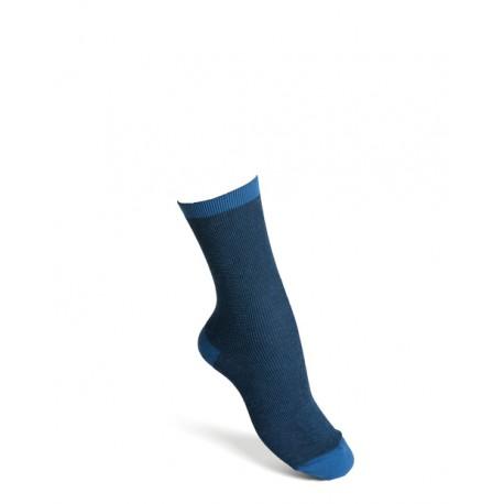 Komfortsockor bomull blå