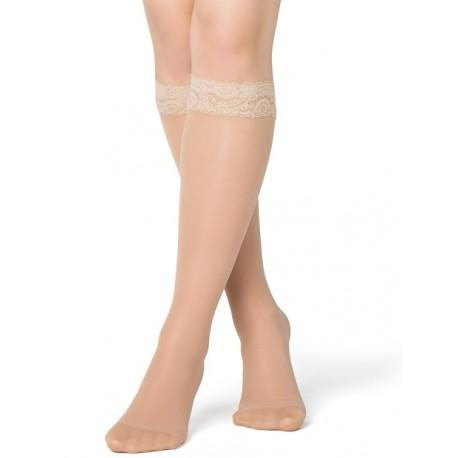 stödstrumpor nylon spets hud
